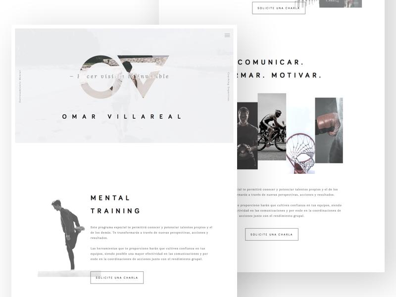 Omar Villarreal Website — WIP coaching sports training mental villarreal omar wip minimal clean website
