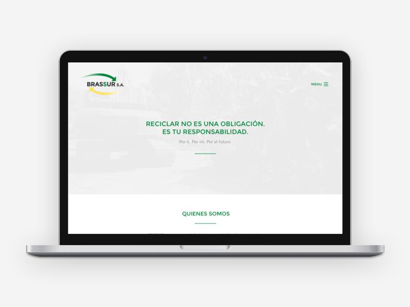 Brassur S.A. — Website metal recycle enviroment home clean minimal website