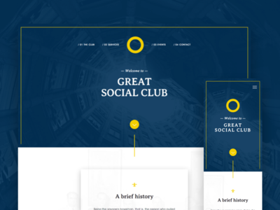 Social Club Website Redesign — WIP