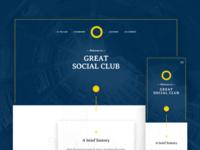 Social Club Website Redesign — WIP
