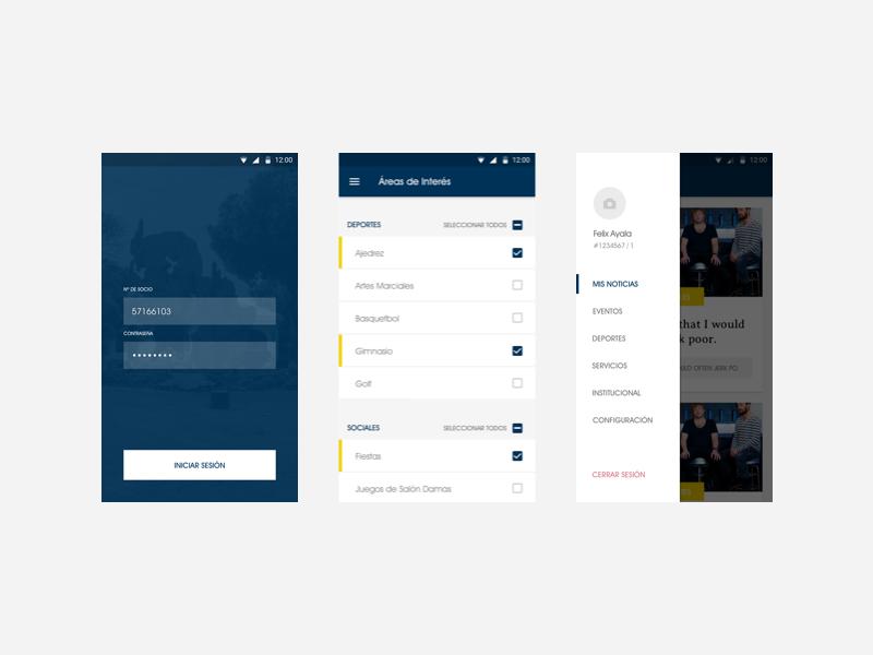 Club Centenario — Mobile App social centenario club clean minimal app mobile ios
