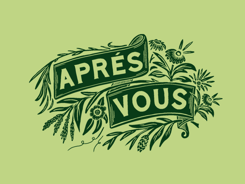 Aprés Vous Saison branding packagingdesign typography illustration floral