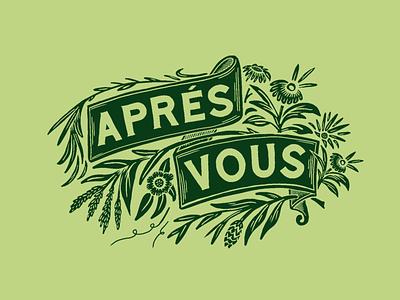 Aprés Vous Saison branding packagingdesign typography illustration floral