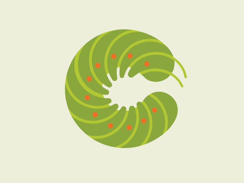 Caterpillar caterpillar typography illustration vector design