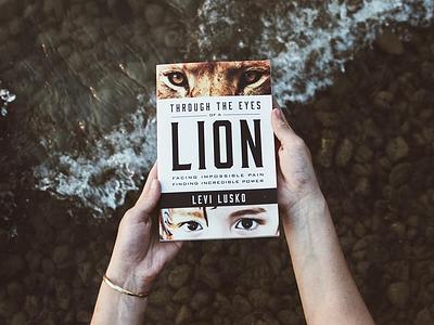 Through The Eyes of A Lion book art book cover book design