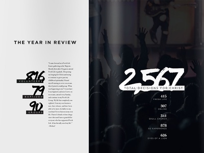 Fresh Life Year in Review 2015 layout editorial magazine