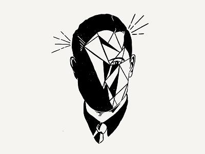 Man Drawicon pencil hand drawn face icon