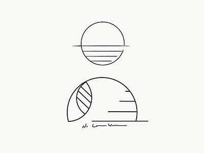 Sunset Logo Concepts concept logo leaf sunset