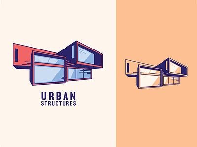 Urban Structures Logo graphic design logo