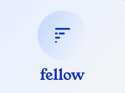 fellow : social app logo design icon branding app