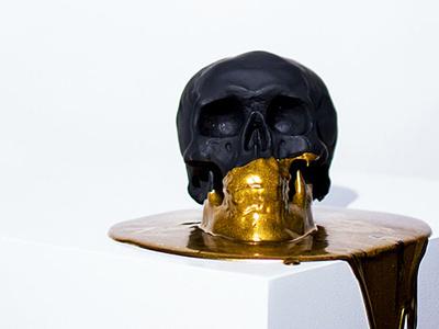 Gold From Golgotha gold skull design art direction