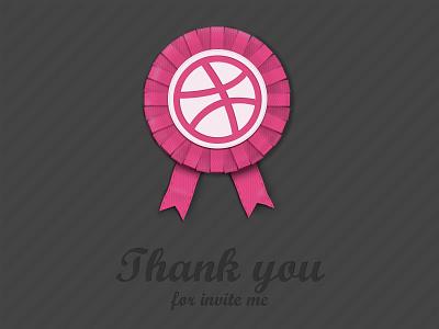 Thank Dribbble dribbble invite thank dribbble one shot ribbon