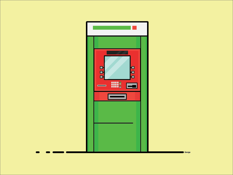 K-Bank ATM bank thai atm green