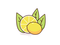 Lemonde conceptual design illustration vector lemonde fruit icon