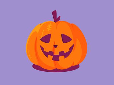 Mr.Pumpkin draw icon illustration halloween pumpkin