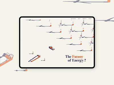 The Future of Energy typography branding advertising ui illustration graphic design webdesign