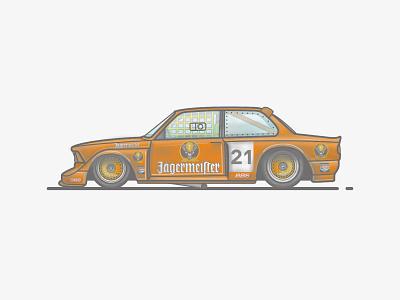 BMW E21 DTM Racecar classic retro car racecar orange jagermeister e21 bmw