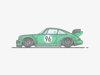 Porsche 911 RWB Racecar