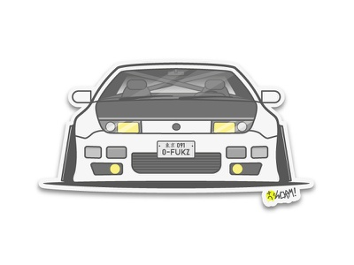 Z32 300ZX vector sticker lineart illustration icon car