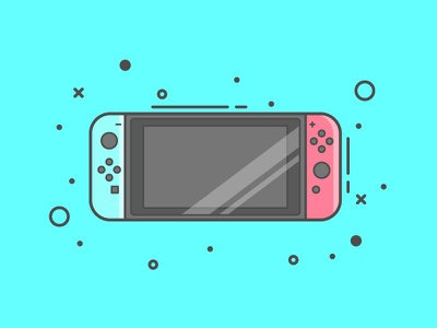 Switch minimal console blue lineart icon switch