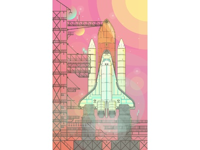 Mars 2015 stars illustration neon vector sun space earth mars shuttle space shuttle