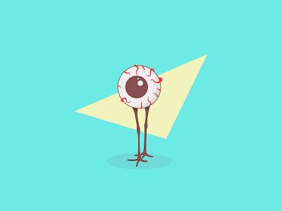 Disgusting Eye illustration monster creature geometric cyan legs eye
