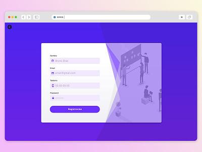 📄Nice purple form form design card purple sign in form