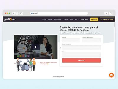 🏢Gestionix home website design
