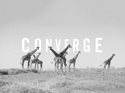Converge branding identity type giraffe trek safari tourism exhibitions logotype logo
