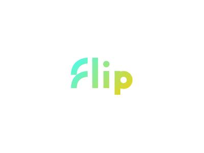 Flip font custom light bright typography type brand ngo logotype logo