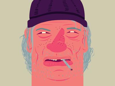 Boom Baby! portrait poster exhibition tramp design flat clean illustrator illustration character vector