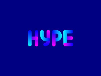 Hype hype typography lettering type