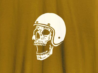 Skull Scream vector apparel illustrator helmet illustration tee biker skull