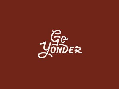 Go Yonder film script brandmark lettering custom type typography logotype type branding logo