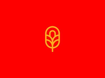 Brandmark exploration for a bakery design brand vector yellow red branding leaves sun spoon bread icon bakery identity logo design logo brandmark wheat