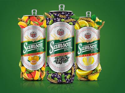 Samson Fruit Beer - key visuals fruit beer radler retouching photo montage brewery