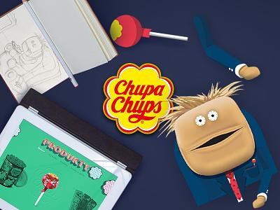 Chupa Chups www (CZ/SK) concept chupa chuck www skatch web design illustration vector drawing chupa chups