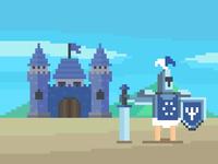 Blue Castle & Knight