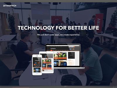 Digital Agency Home Page layout web development web design agency digital