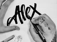 Self lettering portrait