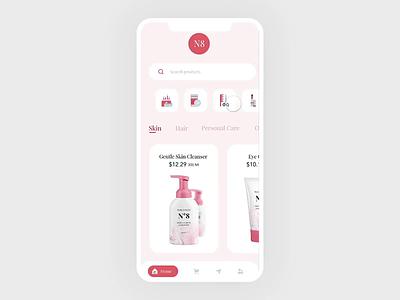 Proptopie E Commerce App Interaction #protopie5.0 protopie5.0 card interaction design landing page ui app ux protopie animation shopping app ecommerce app interaction