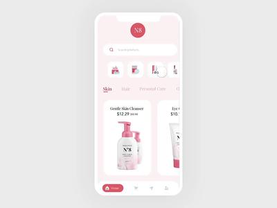 Proptopie E Commerce App Interaction card interaction design landing page ui app ux protopie animation shopping app ecommerce app interaction