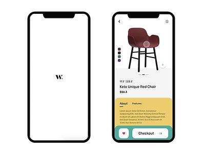 E Commerce app Concept   Furniture app ecommerce app microinteraction furniture design furniture app interaction design interaction page gradient ui app ux
