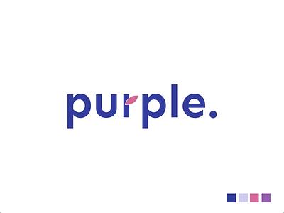 Purple Logo logodesign logotype branding spa color logo spa logo flower logo logo free logo animation animation animated logo