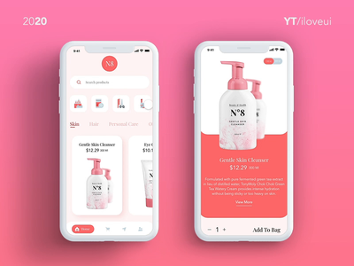 E Commerce Mobile app UI/UX/Interaction - #Adobe Xd ecommerce beauty app ecommerce app interaction design interaction ui app ux
