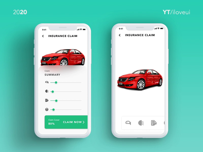 Car Insurance Claim using AR - UI/UX inspiration # Adobe XD 3d animation adobe xd design adobe xd interactive prototype mobile motion interaction design interactive insurance app car insurance aniamted gif 3d ui app ux