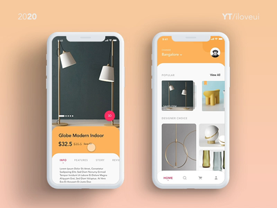 Ecommerce App UI interaction using #adobexd adobe uiuxdesign animated gif 3d object 3d animation app design furniture design furniture app prototype animation adobe xd interaction design ui app ux