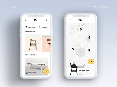 E-commerce Furniture app UI/UX interaction furniture card animation scroll adobexd interaction design interactive design uiuxdesign furniture design furniture app design interaction page ui app ux