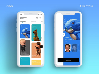 Movie App UI/UX design using Adobe XD - Auto animate, Prototype interactive prototype prototype adobe xd mobile app design mobile ui mobile app movie app interaction movie app interaction design interaction ui app ux