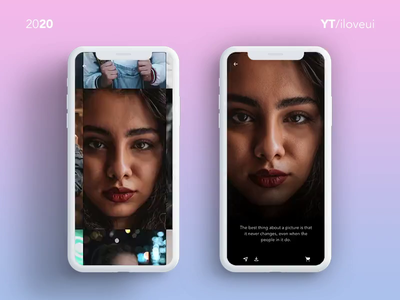Animated Image Gallery View using Adobe Xd 2020 | UI/UX Inspirat photography interaction design landing page interaction ui app ux